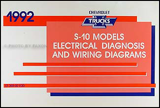 1992 chevy s 10 pickup blazer wiring diagram manual original rh faxonautoliterature com