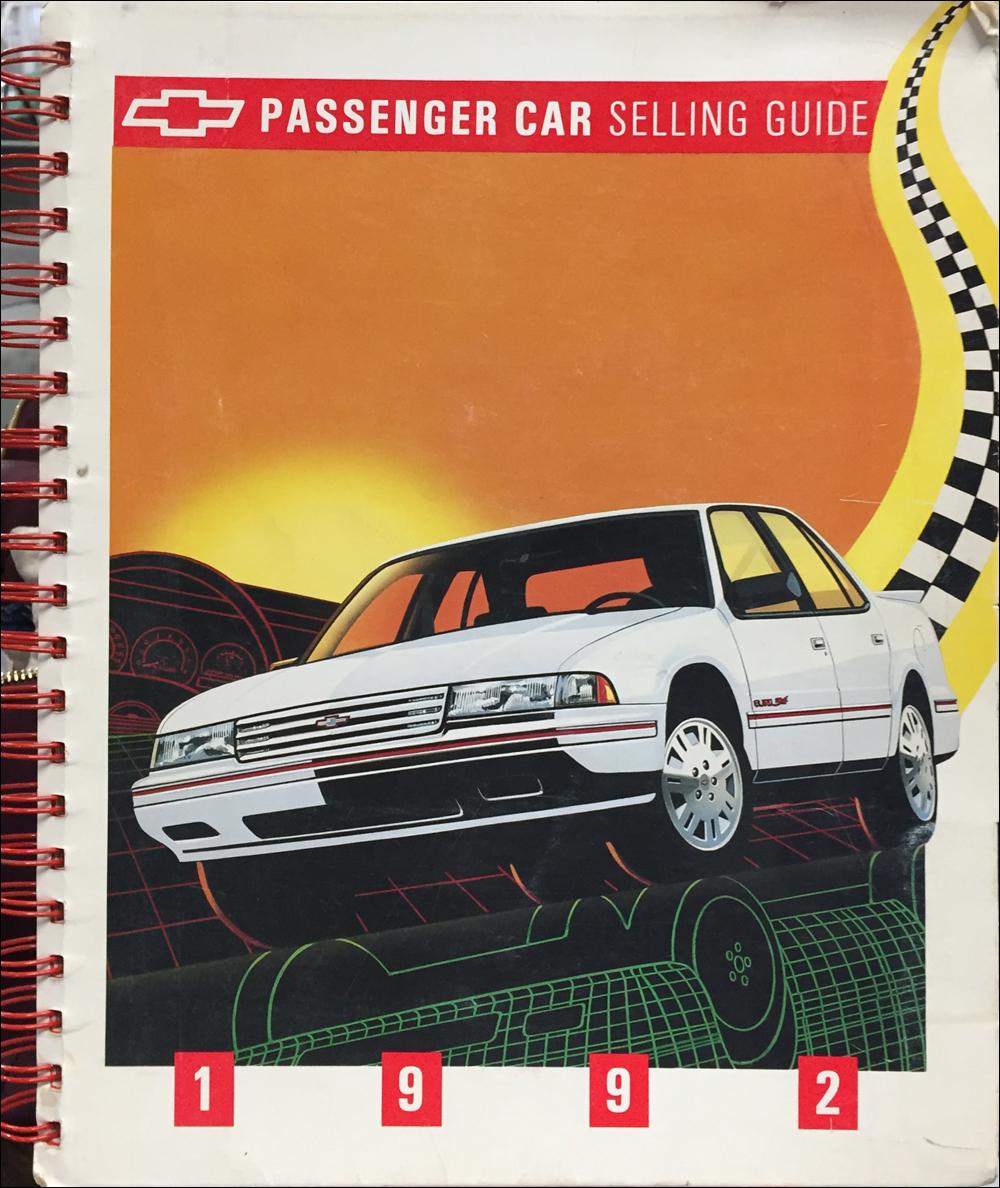 1992 Chevrolet Car Color & Upholstery Dealer Album/Data Book Original