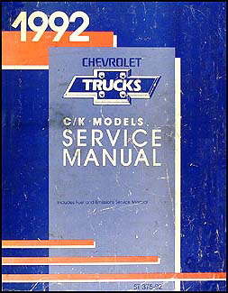 1992 chevy c k pickup suburban blazer wiring diagram manual original related items