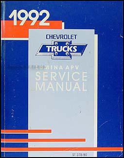 1992 chevy lumina apv minivan repair shop manual original rh faxonautoliterature com 1995 Chevy Lumina 1994 Chevy Lumina