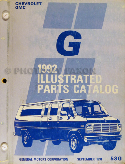 1992 Gmc G Rally Van  Vandura Wiring Diagram Manual Original