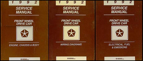 Fabulous 1992 Fwd Repair Shop Manual Chrysler Lebaron New Yorker Imperial Wiring Digital Resources Funapmognl