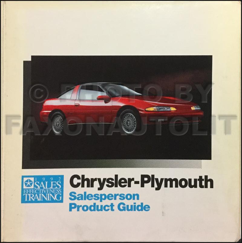 1992 Colt Vista & Summit Wagon Repair Shop Manual Original