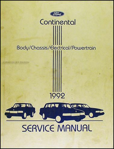 1992 lincoln continental repair shop manual original. Black Bedroom Furniture Sets. Home Design Ideas