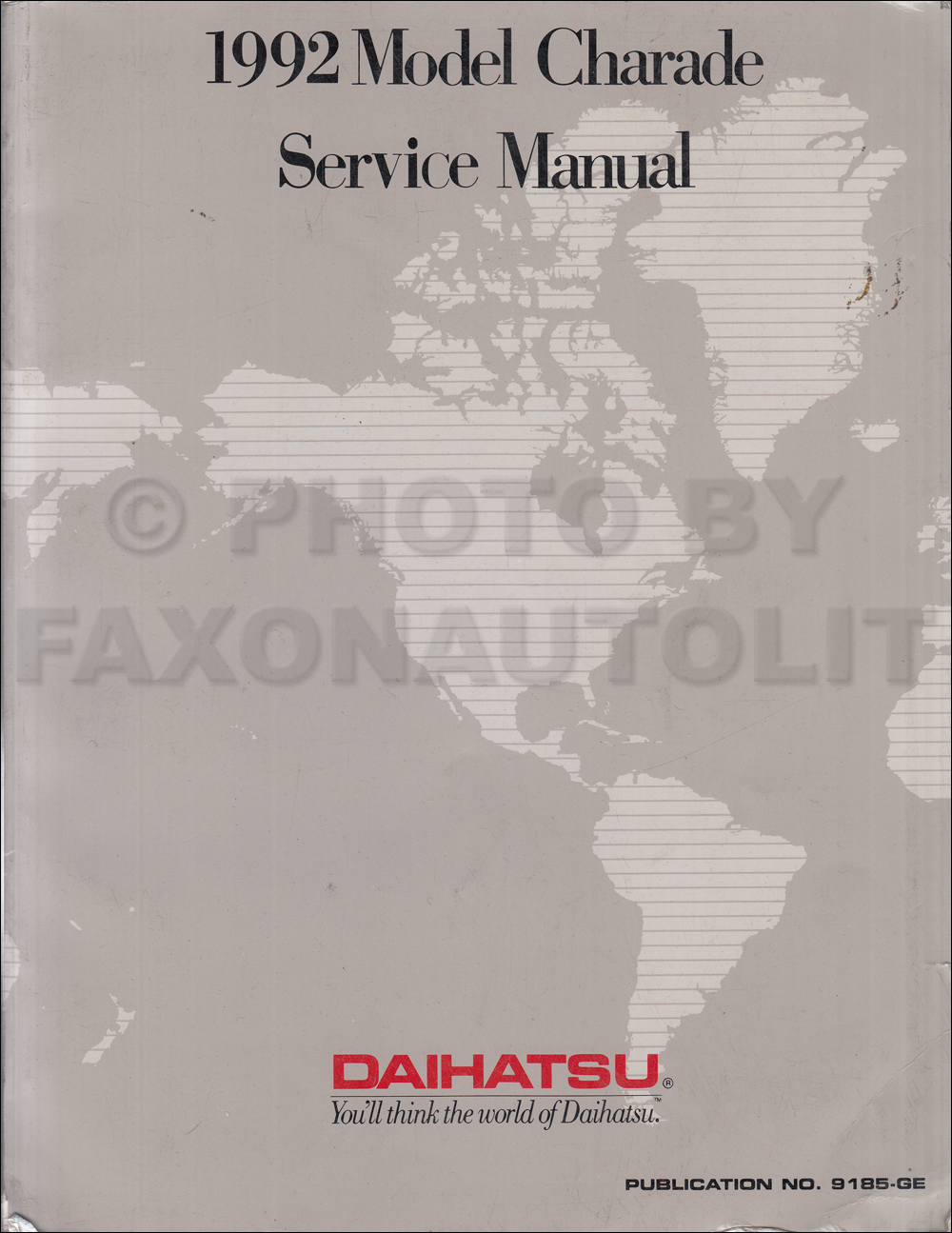 1992 daihatsu charade original repair shop manual rh faxonautoliterature com Daihatsu Charade 2005 Tunned Body 2005 Daihatsu Charade