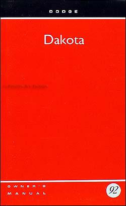 1992 dodge dakota pickup truck owner s manual original rh faxonautoliterature com dodge dakota owners manual 2002 dodge dakota owners manual 1997