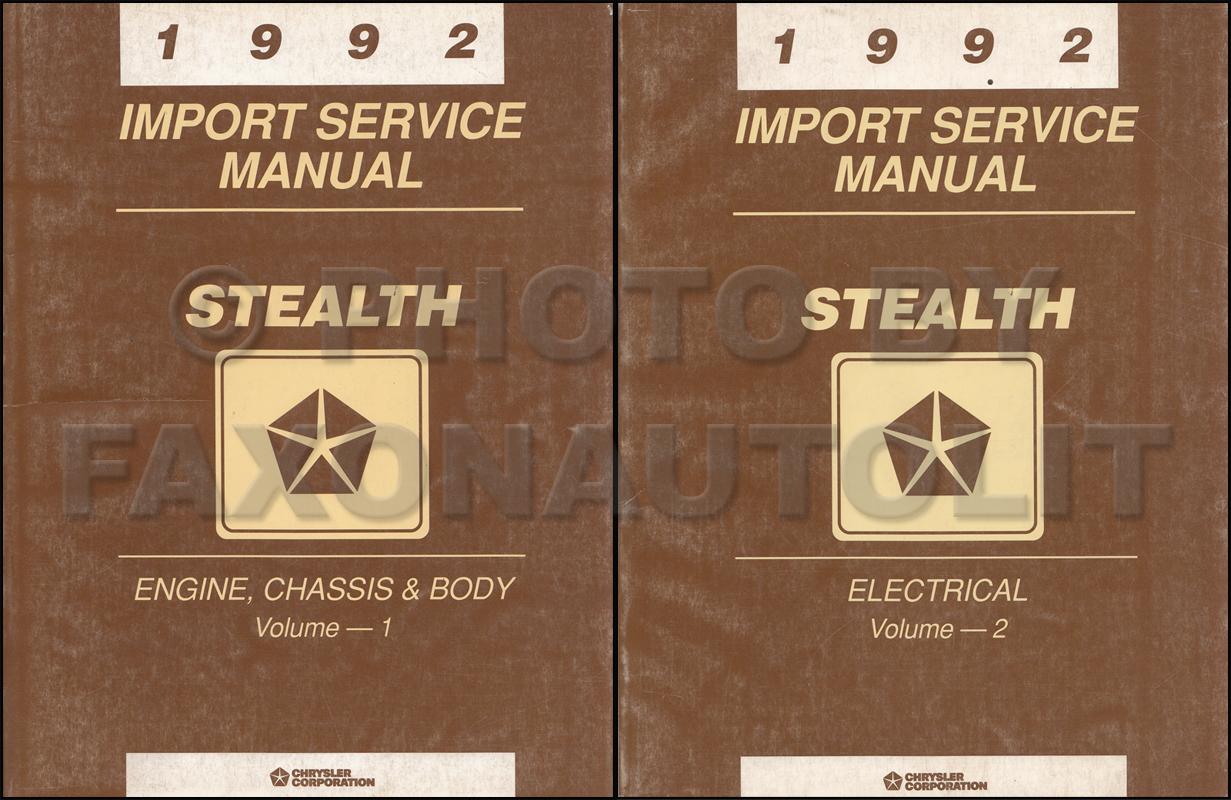 1992 dodge stealth repair shop manual original set es r t and turbo rh faxonautoliterature com 2016 Dodge Stealth 93 dodge stealth service manual