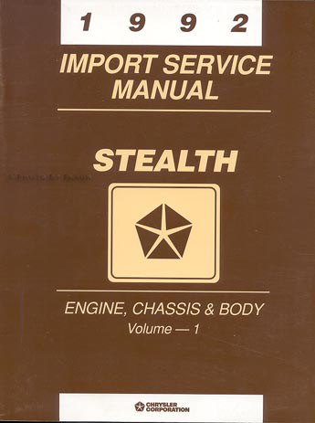1992 Dodge Stealth Repair Shop Manual Original Set ES R T and Turbo