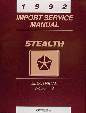 1992 Dodge Stealth Shop Manual Original 2 volume Set 92 ES, R T and R T turbo