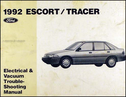1992EscortTracerEVTM 1992 ford escort and mercury tracer electrical troubleshooting manual ZX2 1984 at soozxer.org