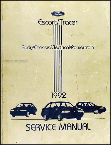1992EscortTracerORM 1992 ford escort & mercury tracer repair shop manual original 1995 mercury tracer wiring diagram at edmiracle.co