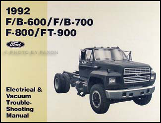 1992FBSeriesEVTM 1992 ford truck (cab) foldout wiring diagram original f600 f700 Ford F700 Wiring Diagrams at bayanpartner.co