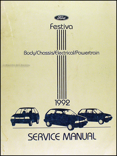 1992 ford festiva factory foldout wiring diagram original 1992 ford festiva repair shop manual original