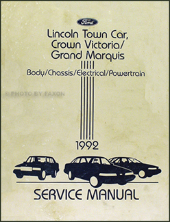 1992 lincoln town car crown victoria grand marquis repair shop rh faxonautoliterature com grand marquis repair manual pdf grand marquis repair manual pdf
