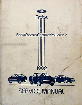 1996 oem factory ford probe service repair shop manual set with.