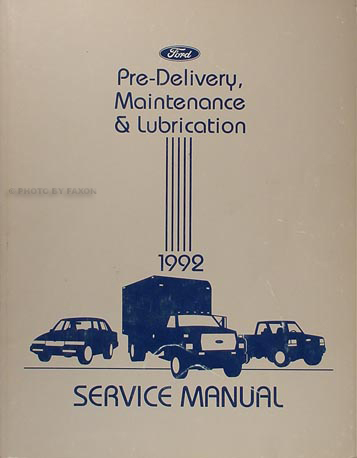1992 ford festiva factory foldout wiring diagram original 1992 maintenance and lubrication manual original ford lincoln mercury