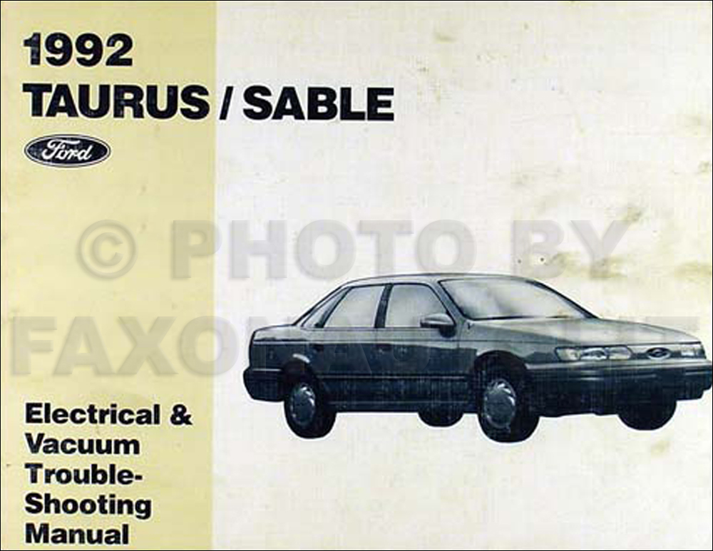 1992 ford taurus and mercury sable electrical troubleshooting manual rh faxonautoliterature com 1991 Ford Taurus 1992 ford taurus owners manual