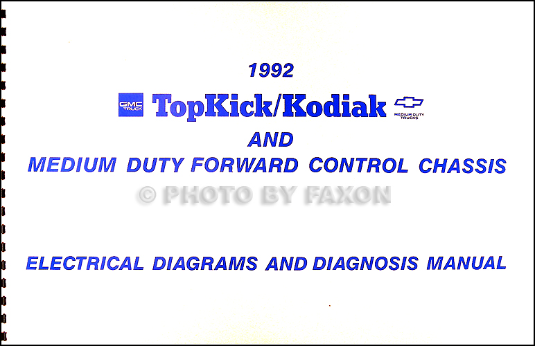 1992 chevy kodiak gmc topkick and p6 wiring diagram manual original rh faxonautoliterature com Mono Amp Wiring Diagram Yamaha ATV Wiring Diagram