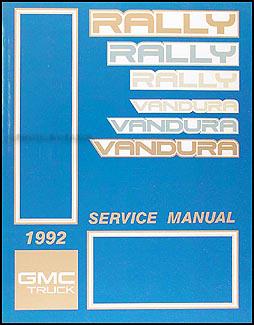 1992GMGVanORM 1992 gmc vandura, rally repair shop manual original 1990 GMC Vandura at gsmportal.co