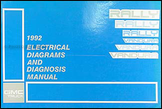 1992GMGVanWD 1992 gmc g rally van vandura wiring diagram manual original 1996 GMC Vandura at gsmportal.co
