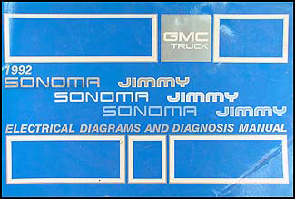 1992GMSTWD 1992 gmc s15 jimmy and sonoma wiring diagram manual original gmc sonoma wiring diagram at soozxer.org
