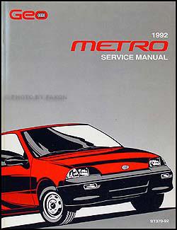 1992 geo metro repair shop manual original rh faxonautoliterature com Geo Metro Fuel Filter Location Geo Metro Diagram