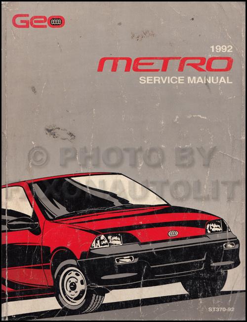 1992 Geo Metro Original Shop Manual 92 Oem Repair Service Book Xfi Lsi