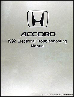 1992 Honda Accord Electrical Troubleshooting Manual Original