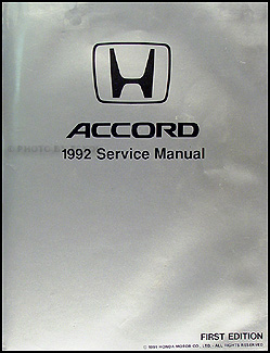 1992 Honda Accord Repair Manual Original