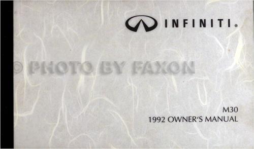 1991 infiniti m30 repair shop manual original. Black Bedroom Furniture Sets. Home Design Ideas
