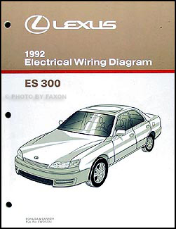 1992 lexus es 300 wiring diagram manual original rh faxonautoliterature com 1992 lexus es300 service manual 2000 Lexus ES300