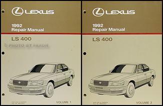 1992 lexus ls 400 repair shop manual original 2 volume set rh faxonautoliterature com 1998 Lexus LS400 1990 Lexus LS400