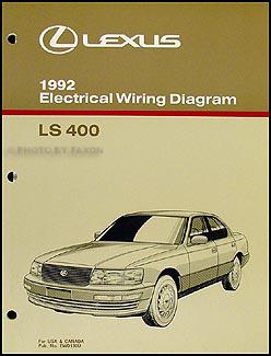 1992 lexus ls 400 wiring diagram manual original rh faxonautoliterature com 1998 Lexus LS400 1992 lexus ls400 manual