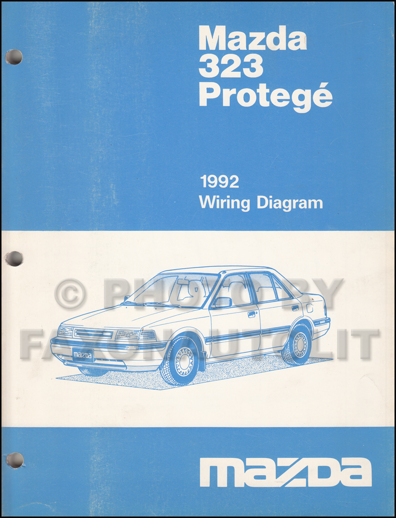 1992 Mazda 323 And Protege Wiring Diagram Manual Original