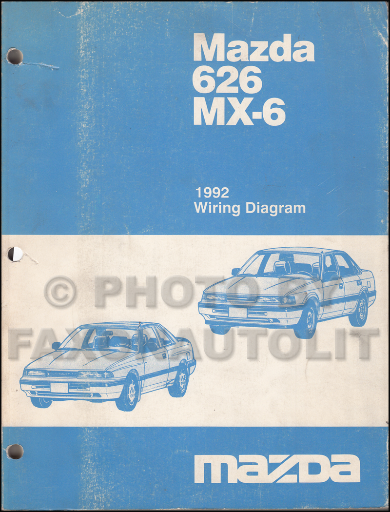 1992 Mazda 626 Wiring Diagram Basic Guide Protege Engine And Mx 6 Manual Original Rh Faxonautoliterature Com 2002