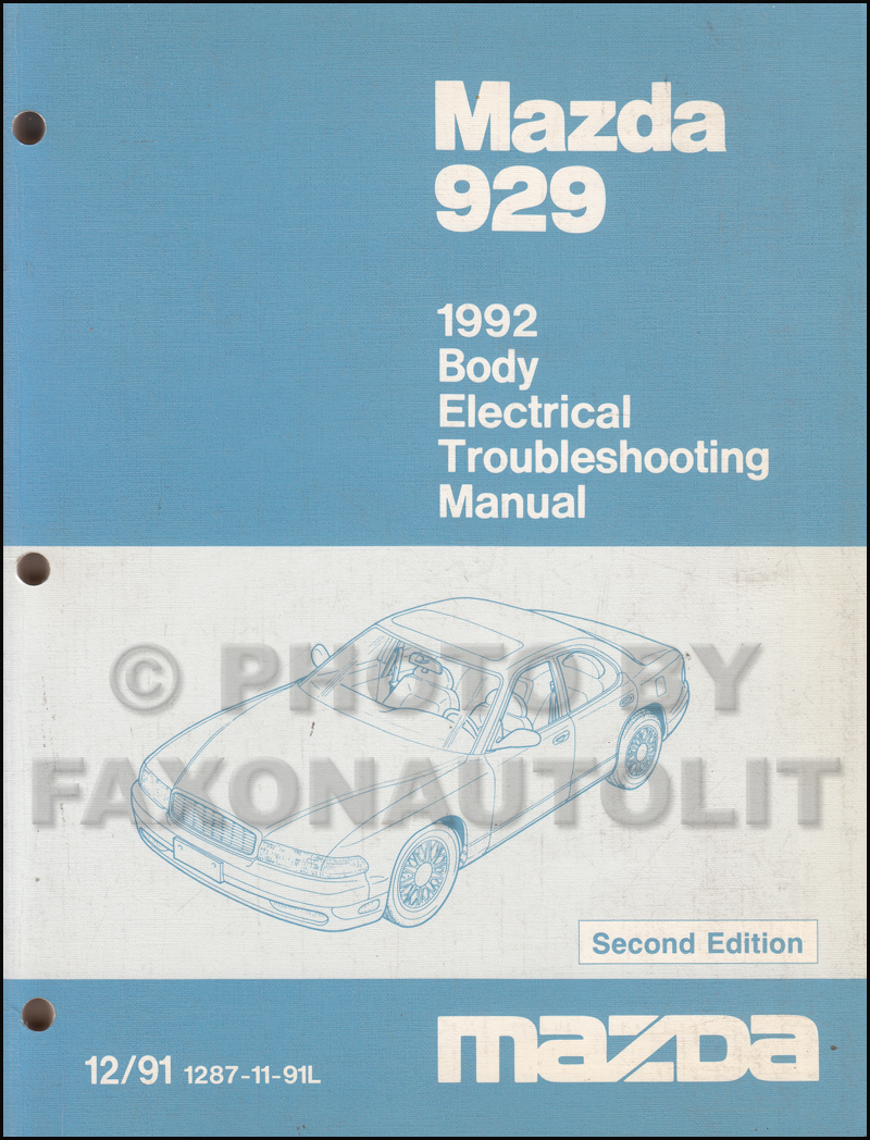 1992 Mazda 929 Body Electrical Troubleshooting Manual Original