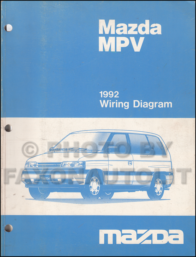 1992 Mazda Mpv Van Wiring Diagram Manual Original