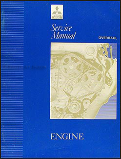 1992 Mitsubishi Engine Overhaul Manual Original