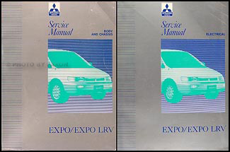 1992 Mitsubishi Expo/Expo LRV Service Shop Manual Original 2 Volume Set