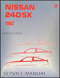 1992 nissan 240sx repair shop manual original rh faxonautoliterature com 1990 nissan 240sx service manual pdf 1990 Nissan 240SX JDM