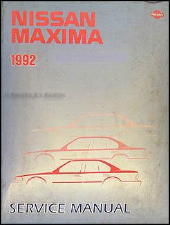 1992 Nissan Maxima Repair Manual Original