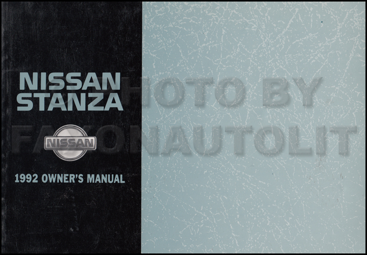 1992 Nissan Stanza Wiring Diagram Manual Original
