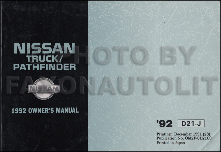 1992 nissan truck and pathfinder wiring diagram manual original 1992 nissan pickup truck and pathfinder owner s manual original canadian