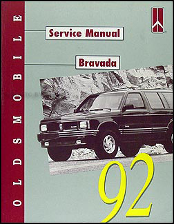 1992 Oldsmobile Bravada Repair Shop Manual Original