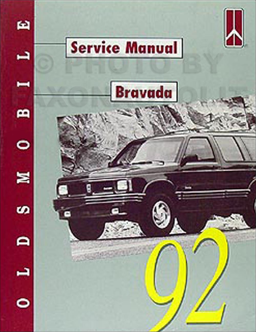 1992 oldsmobile bravada repair shop manual original rh faxonautoliterature com 1999 oldsmobile bravada repair manual 1997 Oldsmobile Bravada