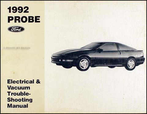 1992ProbeEVTM 1992 ford probe factory foldout wiring diagram original ford probe wiring diagrams for free at n-0.co
