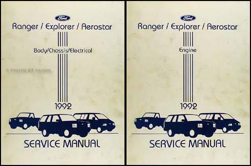 1992RangerExplorerAerostarORMSet  Ford Ranger Ignition Wiring Diagram on econoline van,