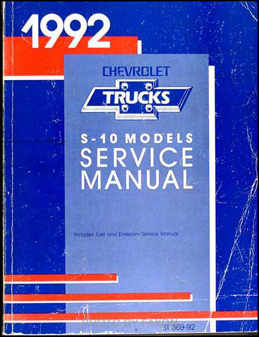 1992 chevy s-10 pickup & blazer wiring diagram manual original, Wiring diagram