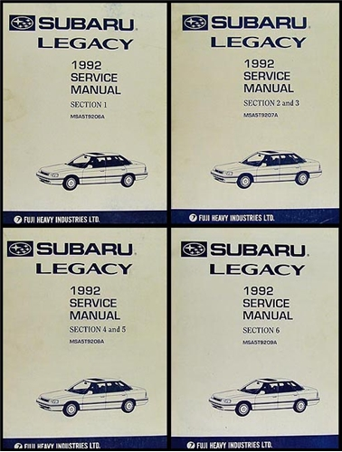 1992 subaru legacy repair shop manual original 4 volume set rh faxonautoliterature com 1992 subaru legacy repair manual pdf 1994 Subaru Legacy