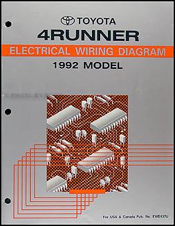 1992 toyota 4runner wiring diagram manual original rh faxonautoliterature com 1995 Toyota 4Runner Engine Diagram 1995 Toyota 4Runner V6 Engine Diagram